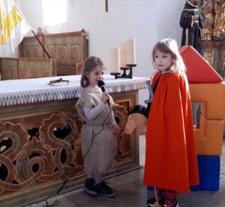 St. Martinsspiel - St. Martin hilft dem Bettler